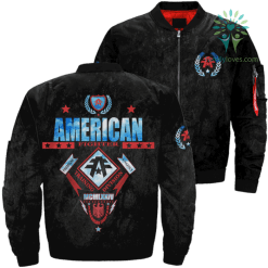 familyloves.com American Fighter Premium Athletics Training Division Mcmlxxiv American Fighter OVER PRINT JACKET %tag