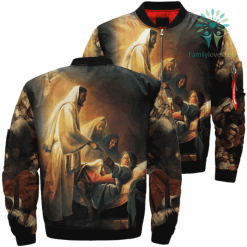 The Resurrection Of Christ Over Print Jacket %tag familyloves.com