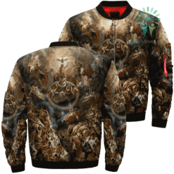 Jesus Christ And The Final Judgment Over Print Jacket %tag familyloves.com