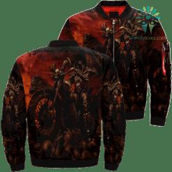 Ride To Hell Skull Over Print Jacket %tag familyloves.com