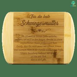 familyloves.com FÜR DIE BESTE SCHWIEGERMUTTER BAMBUS-SCHNEIDEBRETT %tag