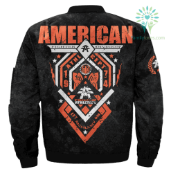 familyloves.com AMERICAN FIGHTER MENS DIVISION OVER PRINT JACKET %tag
