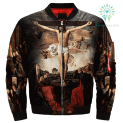 familyloves.com Jesus Christ And The Virgin Mary Over Print Jacket %tag