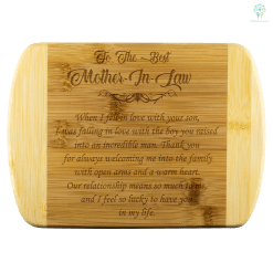 To The Best Mother In Law bamboo cutting board Organically Grown Bamboo (Son) %tag familyloves.com