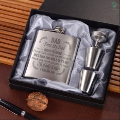 Dad First My Dad Forever My Friend….. I'm So Lucky To Have A Dad Like You…Portable Stainless Steel Boxed Laser Engraving %tag familyloves.com