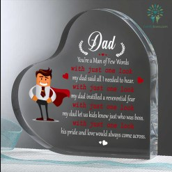 Dad, You're Man Of Few Words With Just One Look Heart Keepsake %tag familyloves.com