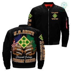 4th Infantry Division U.S. Army Over Print Jacket %tag familyloves.com