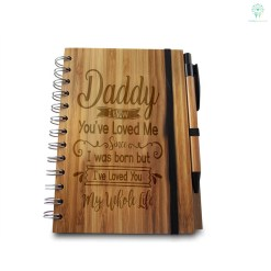 Daddy I know You've Loved Me Since I Was Born... Bamboo Notebook & Pen %tag familyloves.com
