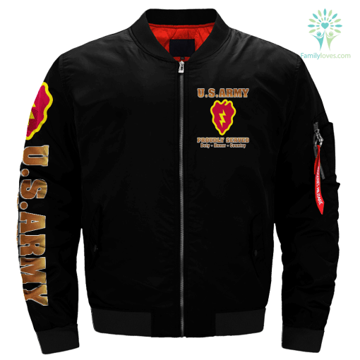 25th Infantry Division U.S. Army Over Print Jacket %tag familyloves.com