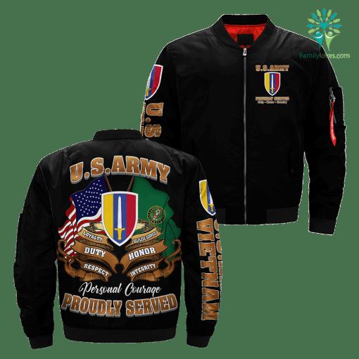 U.S. ARMY VIETNAM Over Print Jacket %tag familyloves.com