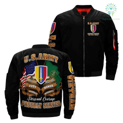 U.S. ARMY VIETNAM Over Print Jacket %tag familyloves.com