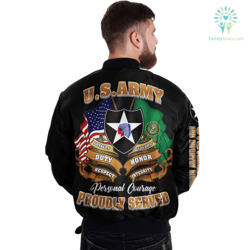 2nd Infantry Division U.S. Army Over Print Jacket %tag familyloves.com