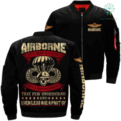 Airborne it's not a club it's a brotherhood that few understand... Over Print Jacket %tag familyloves.com