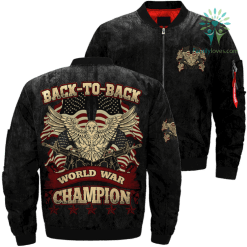Back-to-back world war champion Over Print Jacket %tag familyloves.com