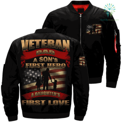 Veteran dad a son's first hero, a daughter's first love Over Print Jacket %tag familyloves.com