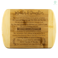 familyloves.com Mother & Daughter The Bond Between Mother & Daughter bamboo cutting board Organically Grown Bamboo %tag