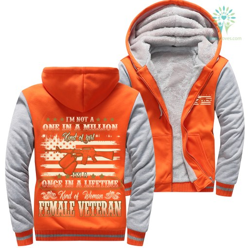 I'm not a one in a million kind of girl... female veteran Woman Hoodie 50% warm woman %tag familyloves.com