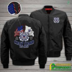 familyloves.com U.S Coast Guard Retired Embroidery Jacket %tag