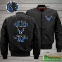 familyloves.com I Will Live By This Oath Until The Day I Die Because I Am And Always Will Be A U.S. Air Force Veteran Embroidery Jacket %tag