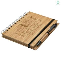 To My Son As Your Mother I Promise You... Love Mom Engraved Bamboo Notebook & Pen %tag familyloves.com