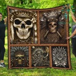 Native Skull Quilt %tag familyloves.com