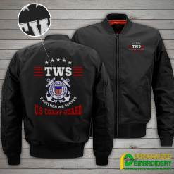 familyloves.com Together We Served U.S. Coast Guard Embroidery Jacket %tag