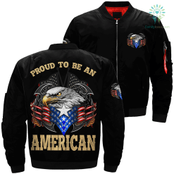 Proud to be an american over print jacket %tag familyloves.com