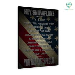 Hey Snowflake In The World You Are Not Special Military Pride Canvas %tag familyloves.com