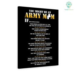 You Might Be An Army Mom If Military Canvas %tag familyloves.com