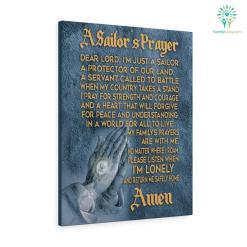 US Navy centerpieces with sailors prayer Canvas %tag familyloves.com