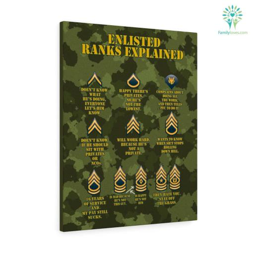 Enlisted Ranks Explained Military Canvas %tag familyloves.com