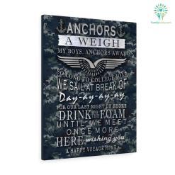 Anchors A Weigh My Boys. Anchors Away Navy Canvas %tag familyloves.com