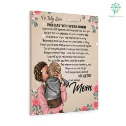 Letter To My Son The Day You Were Born Canvas Gifts From Mom %tag familyloves.com