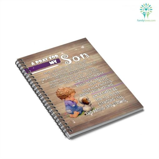 A Pray for my Son Spiral Notebook gifts from mom %tag familyloves.com