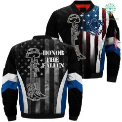 Air Force Veteran Honor The Fallen Over Print Jacket %tag familyloves.com