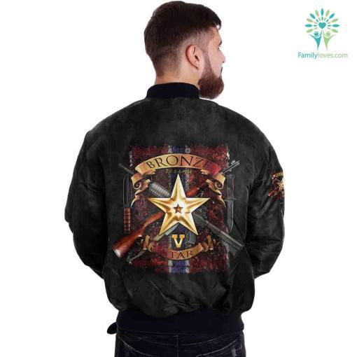 The Bronze Star Medal United States Over Print Jacket %tag familyloves.com