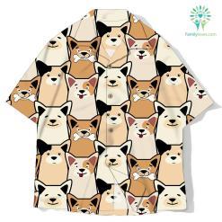 Animal seamless dog pattern pug cartoon shirt %tag familyloves.com