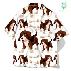 Beagle dog seamless pattern shirt %tag familyloves.com