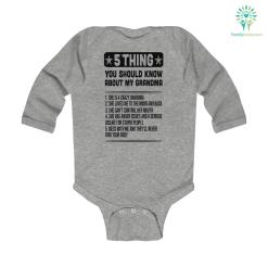 5 Thing You Should Know About My Grandma Kids Infant Long Sleeve Bodysuit bodysuit cotton length long sleeve long sleeve bodysuit sleeve sleeve bodysuit soft soft cotton %tag familyloves.com