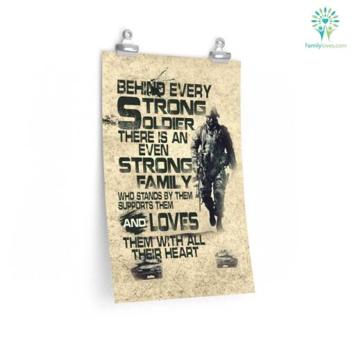Behind Every Strong Soldier Military Posters %tag familyloves.com