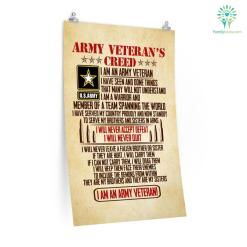 Army Veteran's Creed Posters %tag familyloves.com