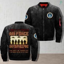 2 percent of Americans have worn an air force uniform keeping our country free... Over Print Jacket %tag familyloves.com