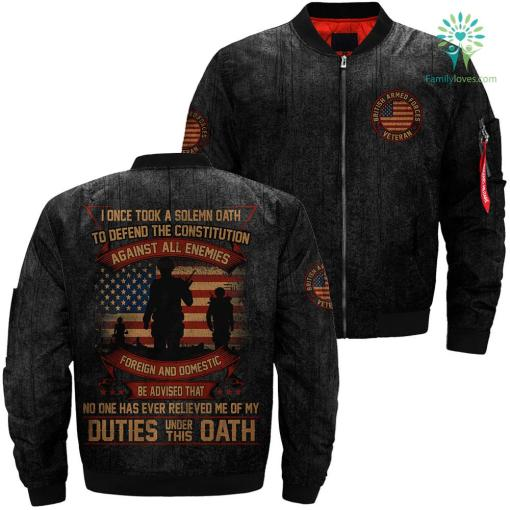 I Once Took A Solemn Oath To Defend The Constitution Against Over Print Jacket %tag familyloves.com