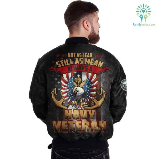 Not as lean still as mean always a navy veteran Over Print Jacket %tag familyloves.com