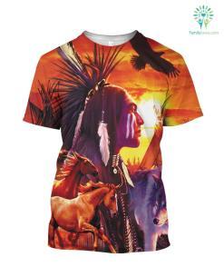 Native American Eagle tshirt Hoodie Jacket %tag familyloves.com