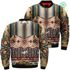 Native american pattern 3d jacket Over Print Jacket %tag familyloves.com