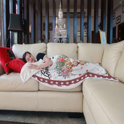 To My Granddaughter Sherpa Fleece Blanket %tag familyloves.com