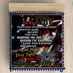 To My Wife Sherpa Fleece Blanket %tag familyloves.com