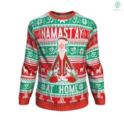 Namast'ay At Home UGLY CHRISTMAS SWEATER %tag familyloves.com