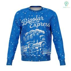 Bipolar Express - Athletic Sweatshirt %tag familyloves.com